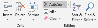 Using AutoSum option