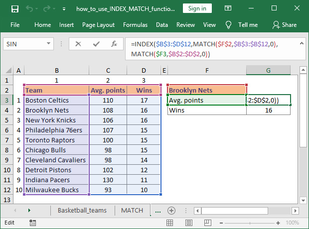 How to use INDEX and MATCH complex lookup